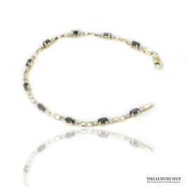 Shop 9ct Yellow Gold Sapphires & Diamond Bracelet – Order Online Today