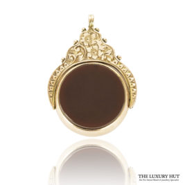 Shop 9ct Rose Gold Vintage Cornelian & Bloodstone Set Spinning Charm / Pendant - Order Online Today For Next Day Delivery