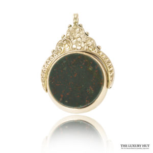 Shop 9ct Rose Gold Vintage Cornelian & Bloodstone Set Spinning Charm / Pendant - Order Online Today