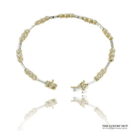 Shop 10ct White & Yellow Gold 0.15ct Diamond Bracelet – Order Online Today