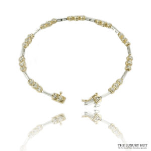 Shop 10ct White & Yellow Gold 0.15ct Diamond Bracelet – Order Online Today