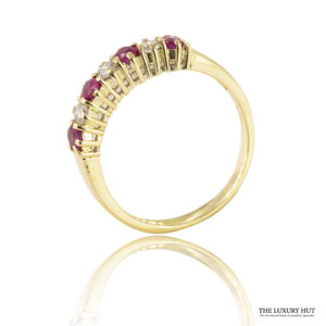 Shop Vintage 2mm 18ct Yellow Gold Ruby & Diamond Ring – Order Online Today
