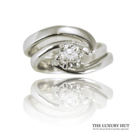 Shop Set of Two 950 Platinum & Diamond Engagement & Wedding Rings – Order Online Today For Next Day Delivery