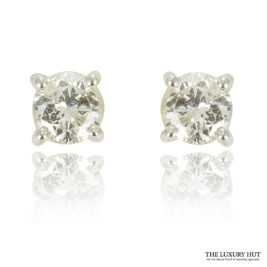 Shop 9ct White Gold 0.67ct Certified Diamond Studs Earrings – Order Online Today For Next Day Delivery