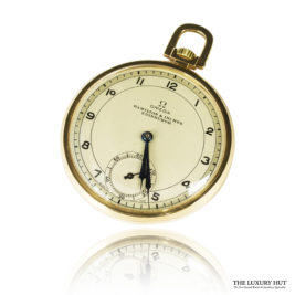 Vintage 9ct Gold Omega Pocket Watch - Order Online Today For Next Day Delivery
