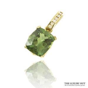 Shop 9ct Yellow Gold Tsavorite & Diamond Pendant - Order Online Today