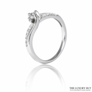 Shop 18ct White Gold & 0.25ct Diamond Cluster Engagement Ring - Order Online Today
