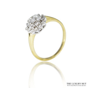 Shop 18ct Yellow & White Gold 0.54ct Diamond Cluster Ring - Order Online Today