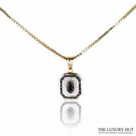 Shop 18ct Yellow & White Gold Pendant with Chain - Order Online Today For Next Day Delivery