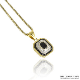 Shop 18ct Yellow & White Gold Pendant with Chain - Order Online Today