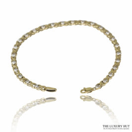 Shop 9ct White & Yellow Gold 0.12ct Diamond Bracelet - Order Online Today For Next Day Delivery