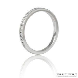Shop 9ct White Gold & 0.29ct Diamond Half Eternity Ring - Order Online Today