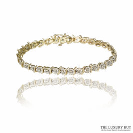 Shop 9ct White & Yellow Gold 0.58ct Diamond Bracelet - Order Online Today For Next Day Delivery