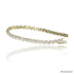 Shop 9ct White & Yellow Gold 0.58ct Diamond Bracelet - Order Online Today