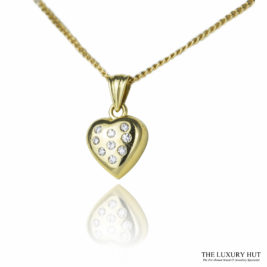 Shop 18ct Yellow Gold & Diamond Heart Pendant with Chain - Order Online Today For Next Day Delivery