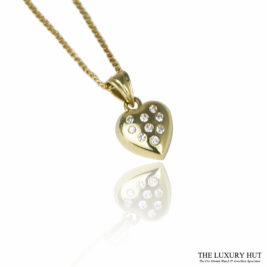 Shop 18ct Yellow Gold & Diamond Heart Pendant with Chain - Order Online Today